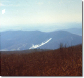 This photo was taken in January, 1974, with about 60% of the terrain open on the center and right side of the resort.  This was the final season for Rappahannock.